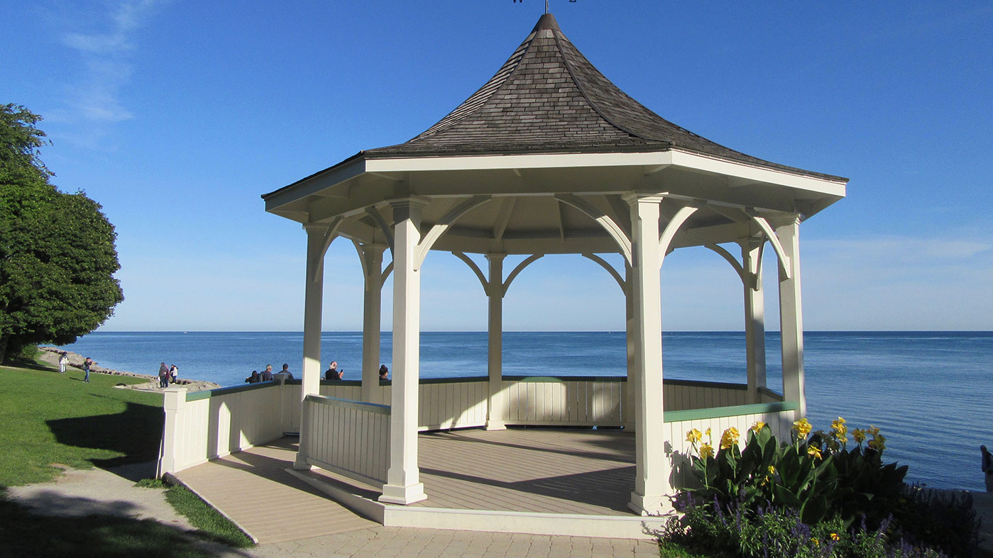 Gazebo overlooking Lake Ontario